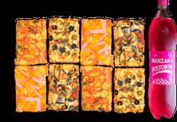 8 Porciones de Pizza + Postobón 1.5LT - combo 2