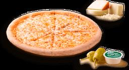 Pizza Delgada Tres Quesos & Jamón