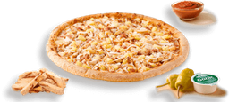 Pizza Mediana Hawaiana Pollo BBQ