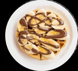 Banana And Nutella Waffle
