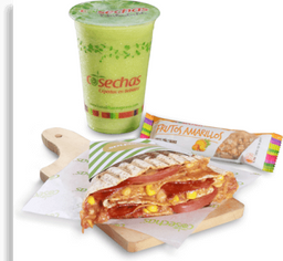 Combo 2 Wrap + Batido refrescante o verde + Barra de cereal