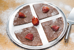 Pizza de Nutella y Fresas