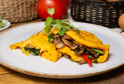 Omelette de Vegetales Salteados