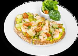 Tartine Aguacate y camarón