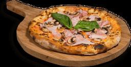 Pizza Jamón y Champiñón Mediana
