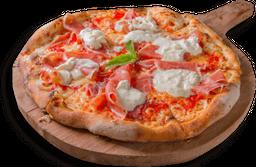 Pizza Crudo y Burrata Mediana