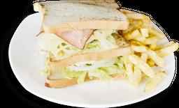 Mega Sándwich De Jamón y Queso