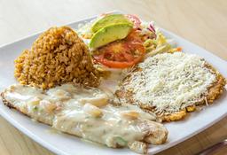 Filete de Pescado Blanco en Salsa de Camarones
