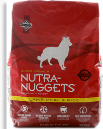 Nutra nuggets cordero arroz bolsa roja 15 kg