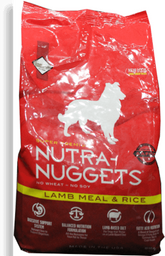 Nutra nuggets cordero arroz bolsa roja 1 kg
