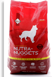 Nutra nuggets cordero arroz bolsa roja 7.5 kg