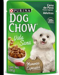 Dog chow wet cena de pavo trozos jugosos 100 gr