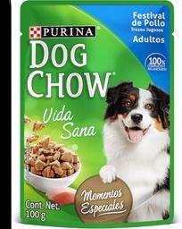 Dog chow wet festival de pollo tro jugosos 100 gr