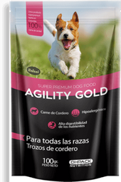 Agility gold pouch trozos de cordero 100 gr