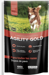 Agility gold pouch trozos de pavo 100 gr