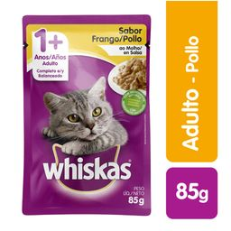 Whiskas pouches pollo 85 gr