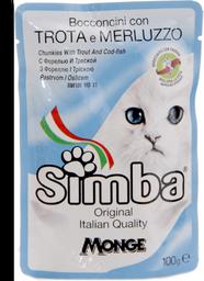Simba gato trucha y merluza pouch 100 gr