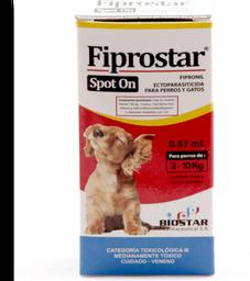 Fiprostar pour on amarillo 0.67 ml (de 2 a 10 kg)