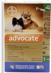 Advocate perros pipeta 0.4 ml (hasta 4 kg)