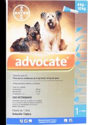 Advocate perros pipeta 1 ml (de 4 a 10 kg)