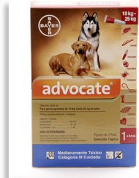 Advocate perros pipeta 2.5 ml (de 10 a 25 kg)