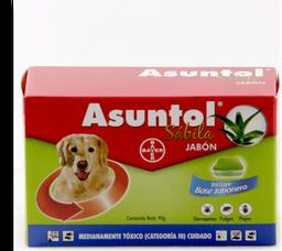 Jabon insecticida asuntol sabila 90 gr + jabonera