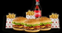 🍔 Combo: 3 Hamburguesas Súper con Adición de Queso y Tocineta 🍟