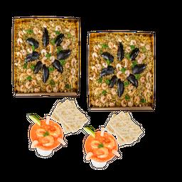 🥘2 Paellas Valenciana + 2 Ceviches Junior