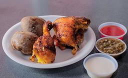 Presas de pollo  2 Und Asado