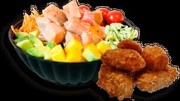 Tu Poke +  gratis 1/2 porción de Cronch.