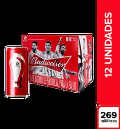 Cerveza Budweiser 12 Pack Lata