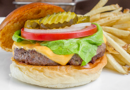 🍔Classic Cheese Burger + Papas