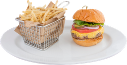🍔Jalapeños Burger + Papas