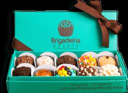 Caja de regalos de 10 brigadeiros