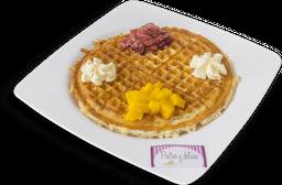 Waffle tropical con Helado