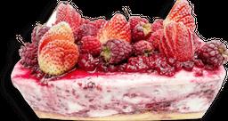 Torta de helado yogur frutos rojos