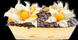 Torta de helado maracuyá chocolate