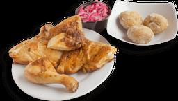 Combo medio pollo