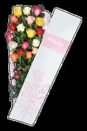 Caja De 18 Rosas Surtida