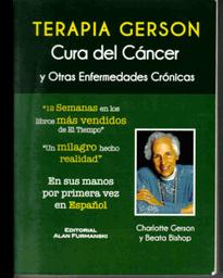 Terapia Gerson, Edición Impresa Al Españ