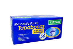 Tapabocas Con Elastico Cajax50Und Azul