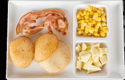 Empana de queso con maicitos y tocineta