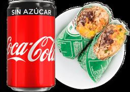 Combo Burrito Texmex + Coca Cola + Chia Pudding