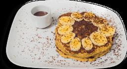 Pancakes banano, avena y chocolate