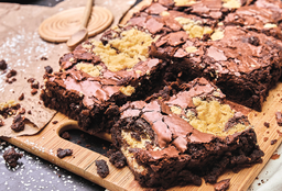 Brownie con Galleta Crumble