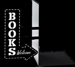 Sujeta Libros Booksho Negro