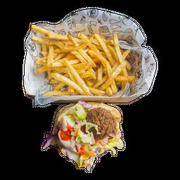 Falafel en sándwich