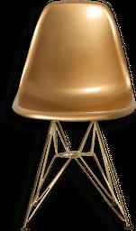 Silla Auxiliar Eames Paltico/Pata Metal dorado - 103006