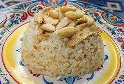 Porción de arroz con almendras