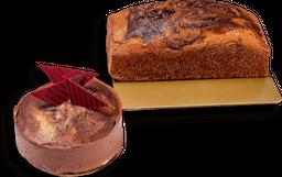 Torta casera travertino porción